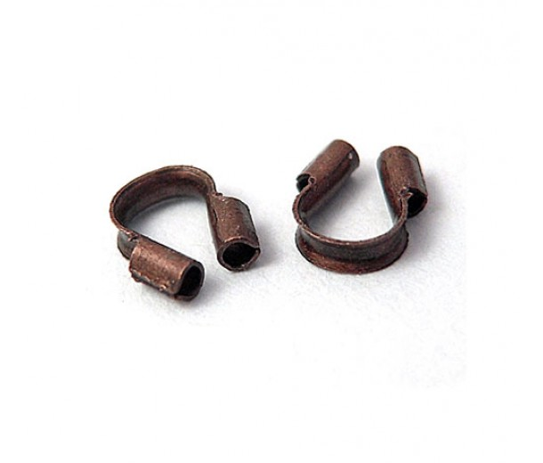 4x5mm Wire Protectors, Antique Copper