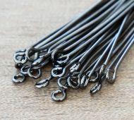 1 Inch 21 Gauge Eye Pins, Gunmetal