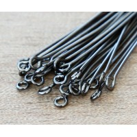 1 Inch 21 Gauge Eye Pins, Gunmetal