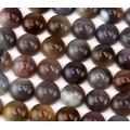 Botswana Agate Cabochons, 10mm Round