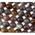 Botswana Agate Cabochons, 10mm Round, Pack of 4