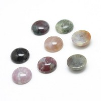 Indian Agate Cabochons, 10mm Round