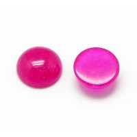 Fuchsia Pink Agate Cabochons, Dyed, 12mm Round