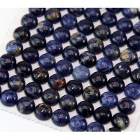 Sodalite Cabochons, 8mm Round, Pack of 10