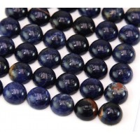 Sodalite Cabochons, 10mm Round, Pack of 4