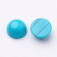Imitation Turquoise Cabochons, Blue, 8mm Round