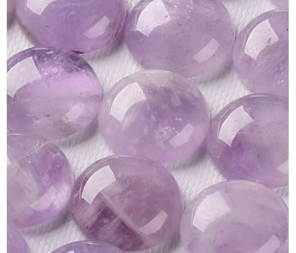 Amethyst Cabochons, Light Purple, 10mm Round
