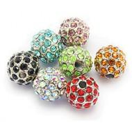Rhinestone Pave Beads