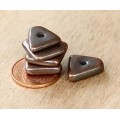 14mm Big Chip Metalized Ceramic Beads, Bronze Plated, Pack of 5