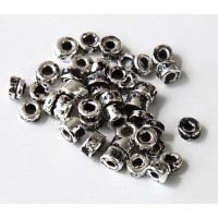 3mm Seed Metalized Ceramic Beads, Antique Silver