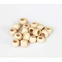 4mm Round Matte Ceramic Beads, Ecru, Pack of 10