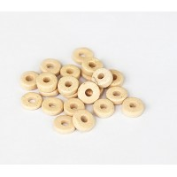 6mm Round Heishi Disk Matte Ceramic Beads, Ecru, 5 Gram Bag