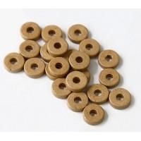 8mm Round Heishi Disk Matte Ceramic Beads, Beige
