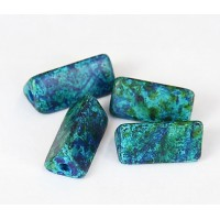 20x10mm Triangle Tube Matte Ceramic Beads, Blue Green Mix, Pack of 2