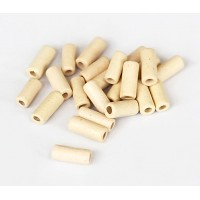 8x4mm Small Tube Matte Ceramic Beads, Ecru
