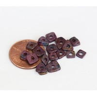 4mm Chip Matte Ceramic Beads, Fancy Purple Mix