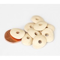 18x4mm Cornflake Matte Ceramic Beads, Ecru