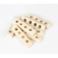 25x6mm 4 Hole Spacer Matte Ceramic Beads, Ecru