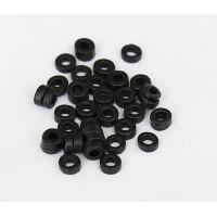 3mm Seed Matte Ceramic Beads, Black