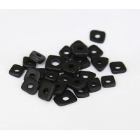 4mm Chip Matte Ceramic Beads, Black, 5 Gram Bag