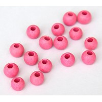 8mm Round Matte Ceramic Beads, Neon Pink, Pack of 10