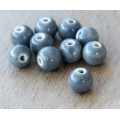 8mm Round Ceramic Beads, Mouse Grey, Pack of 20