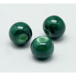 10mm Round Ceramic Beads, Hunter Green