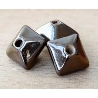 15mm Pillow Ceramic Bead, Bronze
