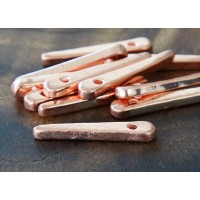 30mm Spike Metalized Ceramic Beads, Copper Plated, Pack of 5