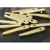 30mm Spike Metalized Ceramic Beads, Gold Plated
