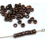 3mm Seed Metalized Ceramic Beads, Bronze Plated, 5 Gram Bag
