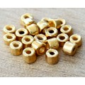3mm Seed Metalized Ceramic Beads, Gold Plated, 4 Gram Bag
