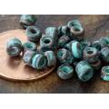 3mm Seed Metalized Ceramic Beads, Green Patina, 5 Gram Bag