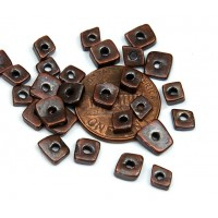 4mm Chip Metalized Ceramic Beads, Bronze Plated