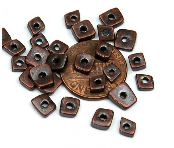 4mm Chip Metalized Ceramic Beads, Bronze Plated, 5 Gram Bag