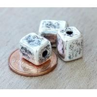 10x8mm Brick Metalized Ceramic Beads, An..