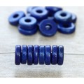 8mm Round Heishi Disk Matte Ceramic Beads, Royal Blue, Pack of 20