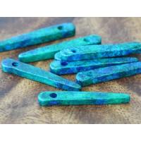 30mm Spike Matte Ceramic Beads, Blue Green Mix