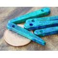 30mm Spike Matte Ceramic Beads, Blue Green Mix, Pack of 10