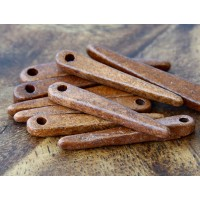 30mm Spike Matte Ceramic Beads, Tobacco, Pack of 10