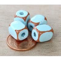 10x8mm Brick Pueblo Ceramic Beads, Light..