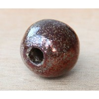 24mm Round Raku Ceramic Bead, Forest