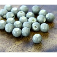 6mm Round Ceramic Beads, Mouse Grey
