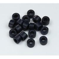 6x4mm Mini Barrel Matte Ceramic Beads, Navy Blue, Pack of 20