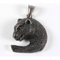 31mm Panther Head Pendant, Stainless Steel