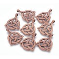 35mm Celtic Trinity Knot Pendant, Antique Copper, 1 Piece