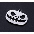 18mm Jack O'Lantern Halloween Charm, Stainless Steel