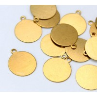 12mm Circle Stamping Blanks, Brass, Pack of 3