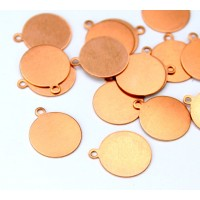 12mm Circle Stamping Blanks, Copper, Pack of 3