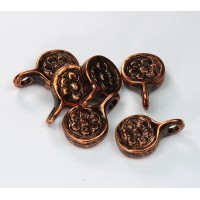 21mm Flower Dangles, Antique Copper, Pack of 4